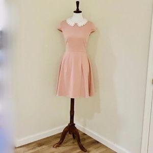 Romantic Retro Mint&Berry Pink Dust Dress w Collar